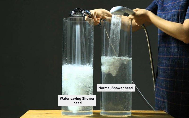 Water saving shower accessories